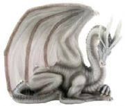 Stunning Wise Old Dragon Fantasy Figurine Statue Ornament